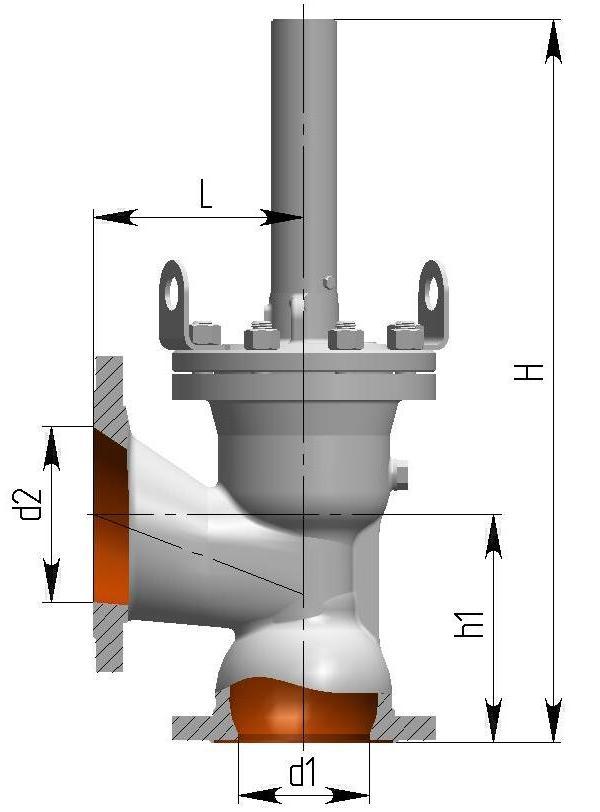 Клапан предохранительный 8с-2-2