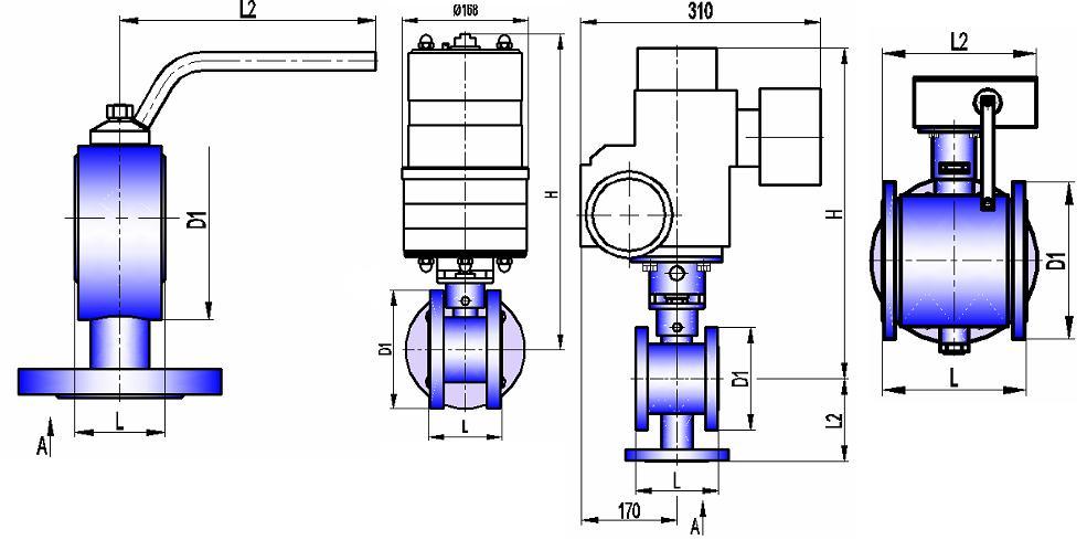 Кран трехходовой КШТХ 16-125
